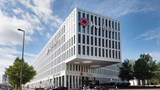 "H4 Hotel Munich Messe Exterior. Images powered by <a href='http://web.iceportal.com'  target=""_blank"">Ice Portal</a>."