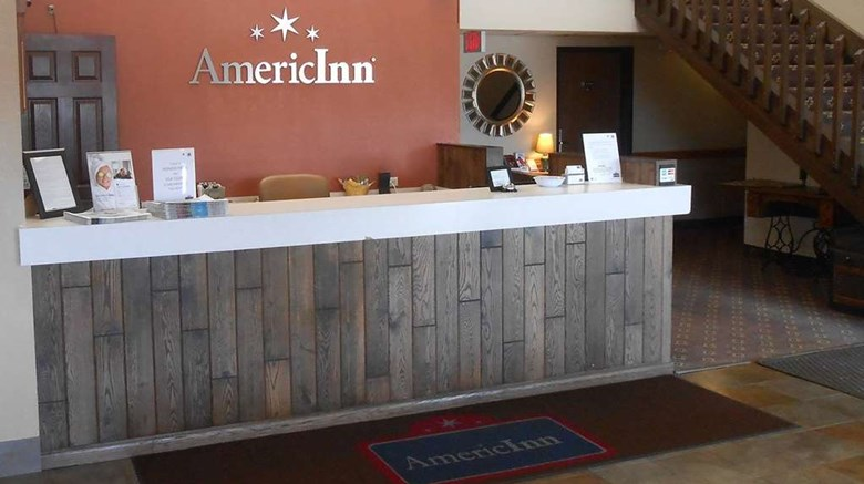 "AmericInn by Wyndham Forest Lake Lobby. Images powered by <a href='http://web.iceportal.com'  target=""_blank"">Ice Portal</a>."