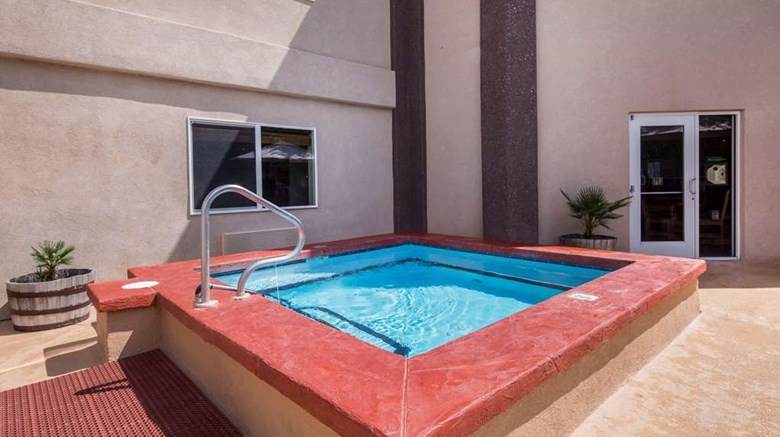 "Quality Inn, Alpine Pool. Images powered by <a href=&#39;http://web.iceportal.com&#39;  target=""_blank"">Ice Portal</a>."