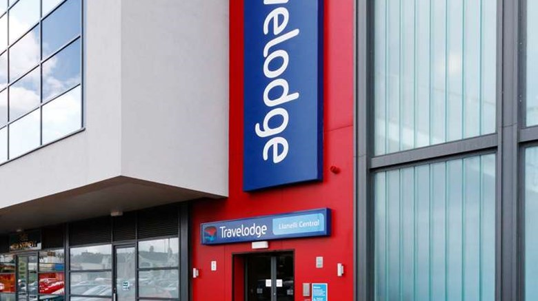 "Travelodge Llanelli Central Exterior. Images powered by <a href='http://web.iceportal.com'  target=""_blank"">Ice Portal</a>."
