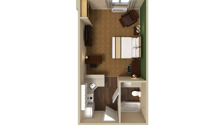 "Extended Stay America Pittsburgh W Miffl Room. Images powered by <a href='http://web.iceportal.com'  target=""_blank"">Ice Portal</a>."