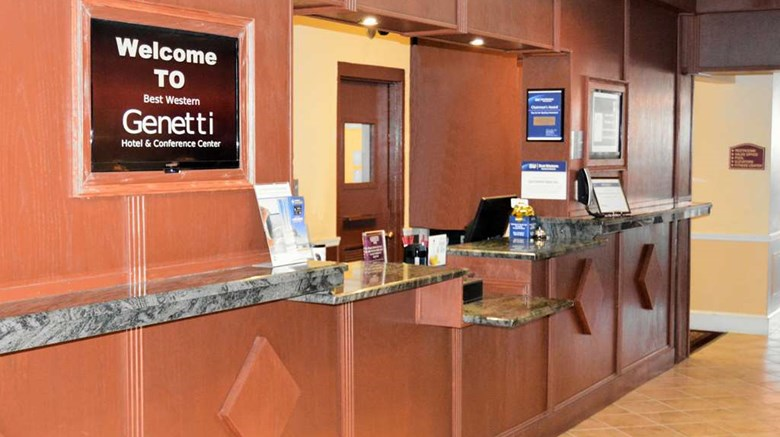 "Best Western Plus Genetti Htl & Conf Ctr Lobby. Images powered by <a href='http://web.iceportal.com'  target=""_blank"">Ice Portal</a>."