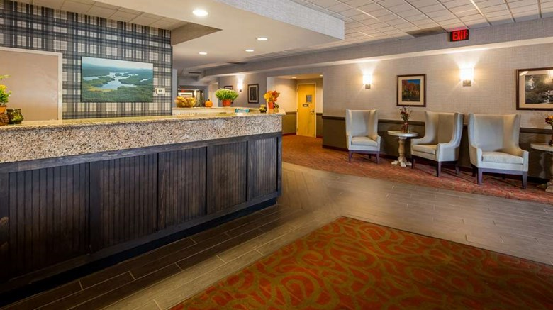 "Best Western Saranac Lake Lobby. Images powered by <a href='http://web.iceportal.com'  target=""_blank"">Ice Portal</a>."