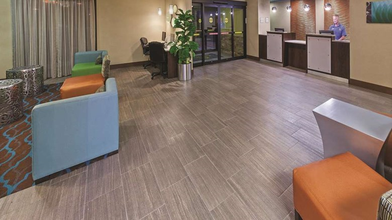 "La Quinta Inn & Stes OKC/Midwest City Lobby. Images powered by <a href='http://web.iceportal.com'  target=""_blank"">Ice Portal</a>."
