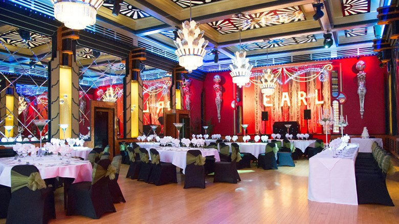 "Earl of Doncaster Hotel Ballroom. Images powered by <a href='http://www.leonardo.com'  target=""_blank"">Leonardo</a>."