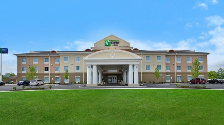 "Holiday Inn Express and Suites Utica Exterior. Images powered by <a href='http://www.leonardo.com'  target=""_blank"">Leonardo</a>."