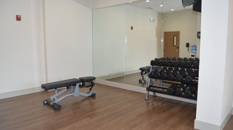 "Holiday Inn Express Health Club. Images powered by <a href='http://www.leonardo.com'  target=""_blank"">Leonardo</a>."