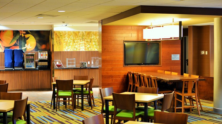 "Fairfield Inn & Suites Omaha Northwest Restaurant. Images powered by <a href='http://www.leonardo.com'  target=""_blank"">Leonardo</a>."