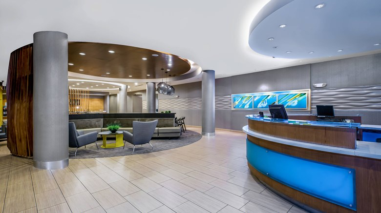 "SpringHill Suites San Antonio SeaWorld Lobby. Images powered by <a href=&#39;http://www.leonardo.com&#39;  target=""_blank"">Leonardo</a>."