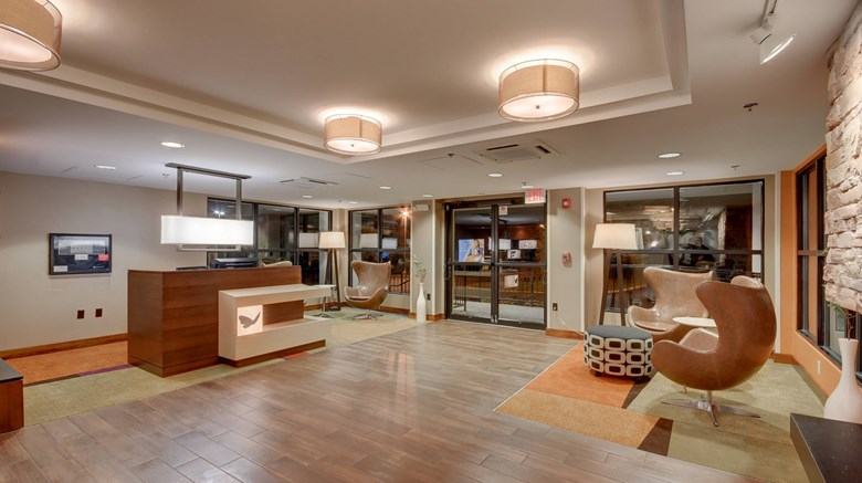 "Fairfield Inn Boston Tewksbury/Andover Lobby. Images powered by <a href='http://www.leonardo.com'  target=""_blank"">Leonardo</a>."