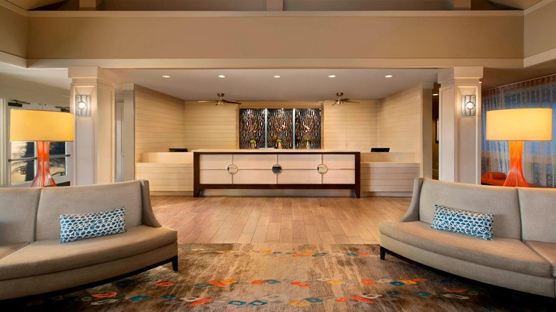 "Marriott's Cypress Harbour Lobby. Images powered by <a href='http://www.leonardo.com'  target=""_blank"">Leonardo</a>."