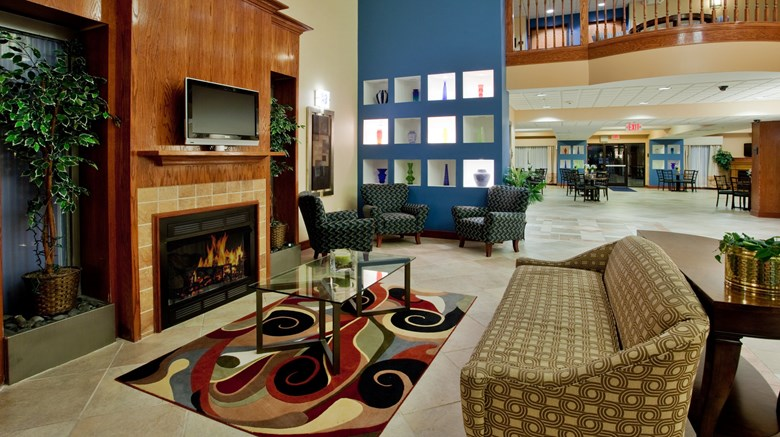 "Holiday Inn Express Hotel & Suites Lobby. Images powered by <a href='http://www.leonardo.com'  target=""_blank"">Leonardo</a>."