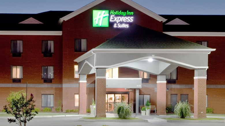 "Holiday Inn Express Hotel & Suites Exterior. Images powered by <a href='http://www.leonardo.com'  target=""_blank"">Leonardo</a>."