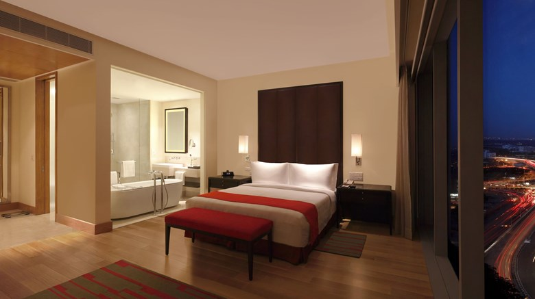 "Trident, Hyderabad Suite. Images powered by <a href='http://www.leonardo.com'  target=""_blank"">Leonardo</a>."
