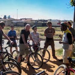 <p>Riders are briefed before exploring Soweto. // © 2015 David DiGregorio</p><p>Feature image (above): Johannesburg should be included on any South...