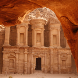 <p>A Bedouin camp near Petra hosts visitors. // © 2018 Getty Images</p><p>Feature image (above): A new map for tourists helps direct business to...