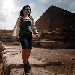 Stroll around the famous Pyramids of Giza with G Adventures. // © 2015 G Adventures