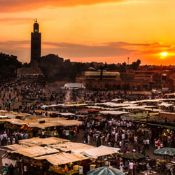 Visiting Marrakech's Koutoubia Mosque and shopping in local markets are among highlights on this fam trip in Morocco. // © 2014 Thinkstock