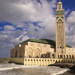 The Hassan II Mosque is one attraction travel agents will visit while in Casablanca. // © 2014 Thinkstock