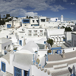 The seaside city of Sidu Bou Said is one of the destinations travel agents will visit on this fam trip. // © 2015 Thinkstock
