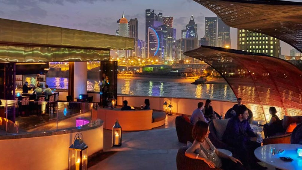 Nobu Doha diners can see the skyline from every table. // © 2015 Christian Horan/Four Seasons Hotel Doha 2
