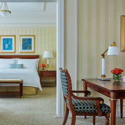 <p>The Ambassador Suite features elegant French Empire-style furniture. // © 2015 Christian Horan/Four Seasons Hotel Doha</p><p>Feature image (above):...