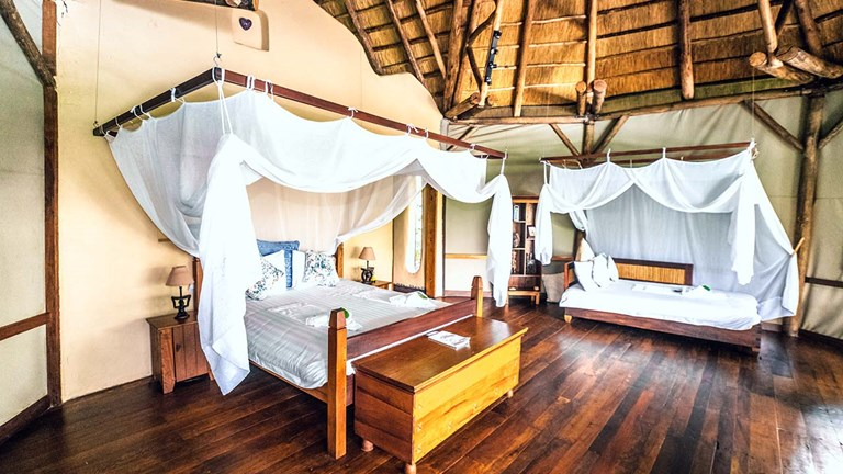 Lemala Wildwaters Lodge features 10 stand-alone luxury villas.