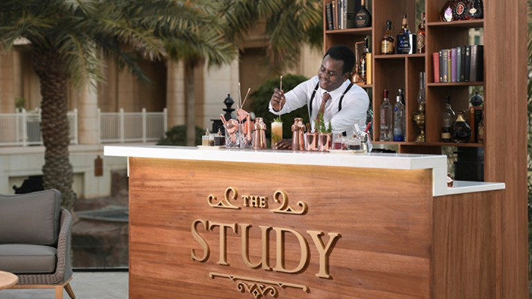 The Study is an outdoor bar and lounge designed as a space of reflection and peace.