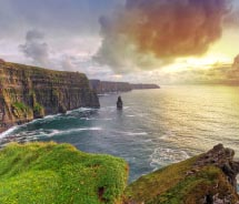 Ireland's Cliffs of Moher are a popular stop on a CIE tour. // © 2012 Thinkstock