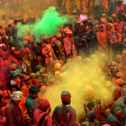 The Festival of Holi commemorates the spring season. // © 2013 Shutterstock