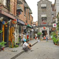 Tianzifang is an arts and crafts enclave in a renovated residential area in the French Concession. // © 2014 gubgib/Shutterstock