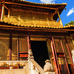 Xiantong Temple, built during the Han Dynasty, is one of Mount Wutai's most venerated sights. // © 2014 Shutterstock