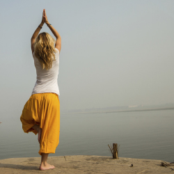 "Rishikesh, India, is known as the ""Unofficial Capital of Yoga."" // © 2014 Thinkstock"