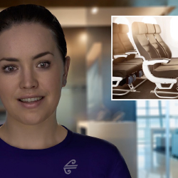 "Sophie, a ""digital human"" can answer questions about the airline's offerings and more. // © 2017 Air New Zealand"
