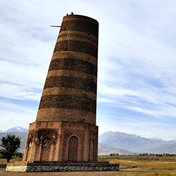 Burana Tower in Kyrgyzstan is one of many ancient places of interest travel agents will visit along the Silk Road. // © 2015 Thinkstock