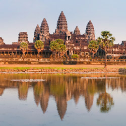 Take a tour of the famous Angkor Wat in Cambodia. // © 2015 iStock
