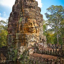 Prasat Bayon temple, part of the Angkor temple complex // © 2014 Thinkstock