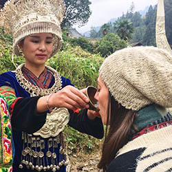<p>The writer participated in a welcome ceremony during a visit to Langde Miao Village in Guizhou, China. // © 2018 Meagan Drillinger</p><p>Feature...