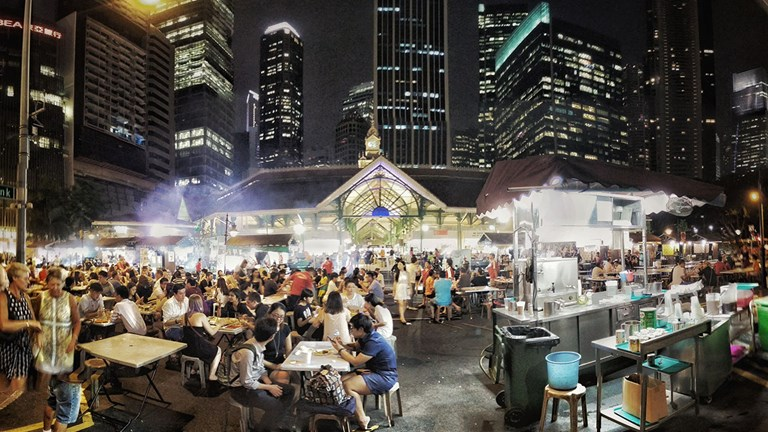 Street food is a vital component of Singapore's culture.