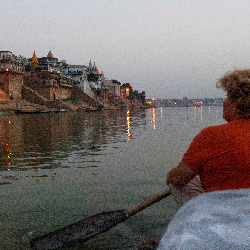 For a better sense of Varanasi's spiritual side, visit the Ganges River before the day begins. // © 2014 Mindy Poder