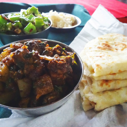<p>The author's home-cooked meal from a Flavours of Fiji Cooking School class. // © 2016 Konrad Thorpe</p><p>Feature image (above): Sample Fijian...