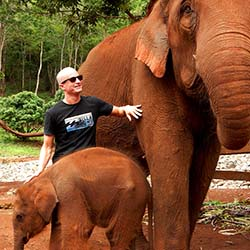 <p>Visitors are able to get up close with elephants, including this 3.5-month-old baby, at Patara Elephant Farm near Chiang Mai, Thailand. // ©...