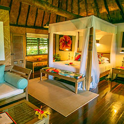 <p>Guests can opt to spend the night in a treehouse at Matangi Private Island Resort. // © 2016 Matangi Private Island Resort</p><p>Feature image...