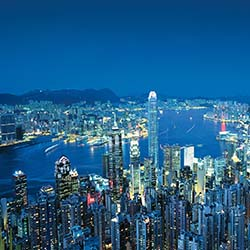 <p>Winning travel agents will stay in a deluxe harbor view room at the highest hotel in the world: The Ritz-Carlton Hotel, Hong Kong. // © 2014 Hong...