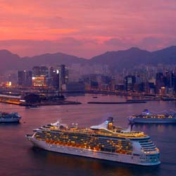 Hong Kong's new Kai Tak Cruise Terminal is able to berth two Oasis-class ships simultaneously. // © 2013 Hong Kong Tourism Board