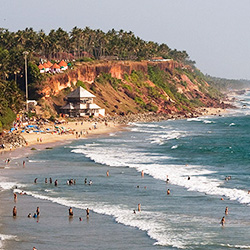 <p>Varkala Beach (Papanasam Beach) is a nice respite from India's typical hustle. // © 2015 Creative Commons user <a...
