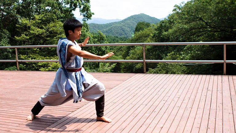 Participants at Golgulsa's temple stay can learn the martial art of sunmudo