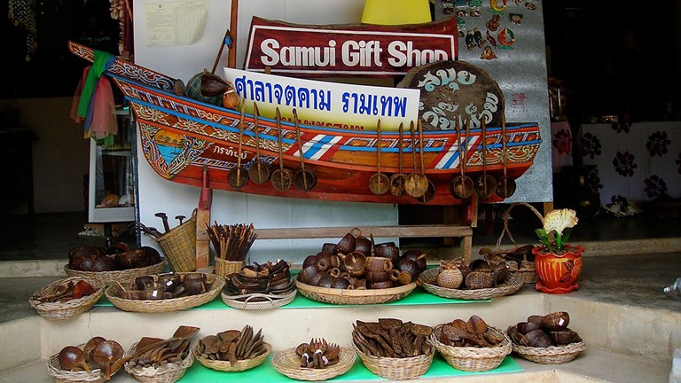 Koh Samui has plenty of places to go for local souvenirs.