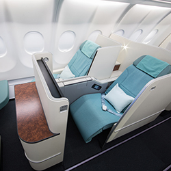 <p>Korean Air has new Prestige Suites, which offer window-seat travelers a private walkway to the aisle. // © Korean Air</p><p>Feature image (above):...