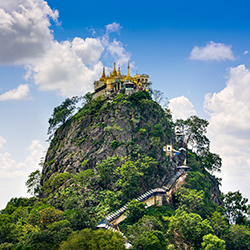 <p>Travelers will be able to see Mount Popa during this seven day trip to Myanmar. // © 2017 iStock</p><div></div>